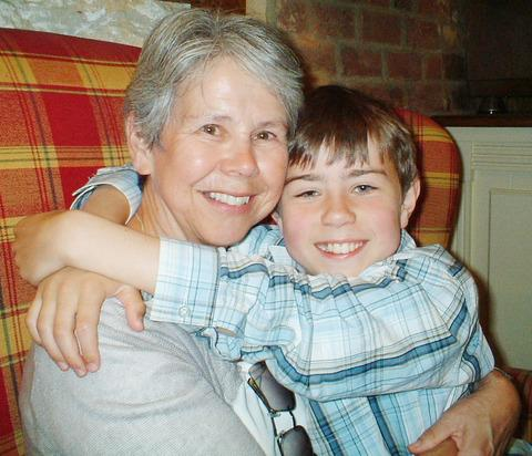 HAPPY TIMES: Diana Jones with her grandson Edward Cullinane.