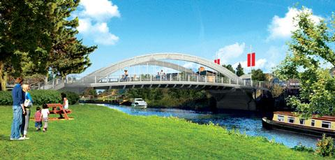Works to build new bridge on schedule