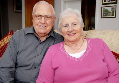 DIAMOND DAYS: Tony and Mary Allen celebrate their 60 years.