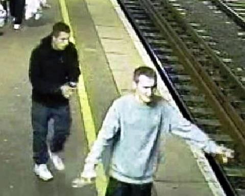 Evesham Journal: CCTV: Police want to question these men after an attack at Evesham railway station