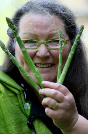 ASPARAGUS TIPS: Jemima Packington, the world's one and only asparamancer, has come up with a set of predictions for the year ahead based on the Vale's most famous vegetable.