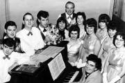 AROUND THE PIANO: The Happy Wanderers proved a popular attraction in the early 1960s