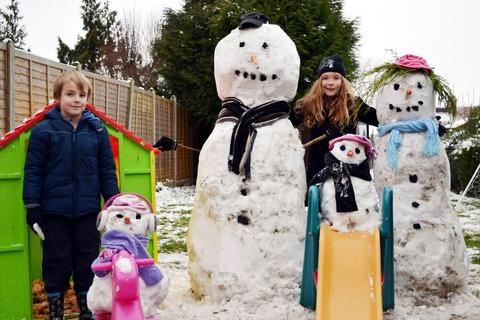 SNOW FUN: These youngsters were among many in the Vale who had fun this week... and the weathermen say more may be on the way.