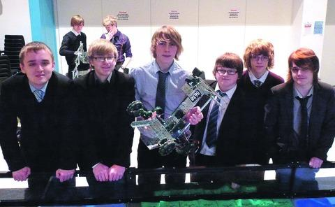 HEADING FOR THE REGIONALS: Evesham High School's robotics team pictured left to right: Douglas Toplis, Michael Hanson, Joseph Betts, Christopher Thomas, Thomas Gardiner and Jack Hair.