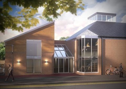 IMPRESSION: A front view of how Pershore Library should look after the refurbishment