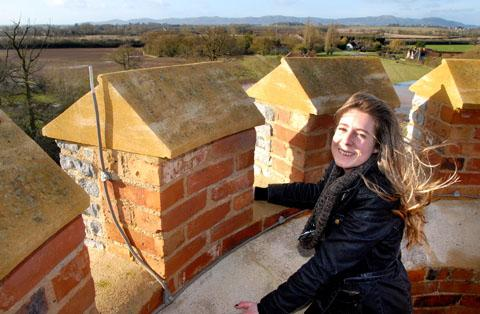 Evesham Journal: SPECTACULAR: Property co-ordinator Alice Padley takes in the views from the top. Pictures: Paul Jackson. 0413230703