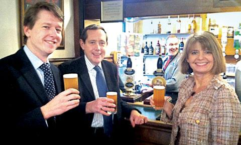 FROM LEFT: Worcester MP Robin Walker, Mid-Worcestershire's Peter Luff, and Harriett Baldwin, who represents West Worcestershire.