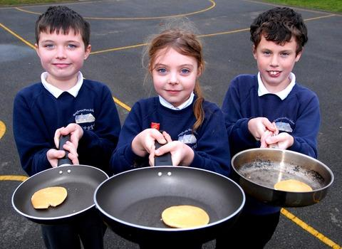 We had flipping good fun on Pancake Day