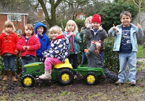 Toy tractor joy for pre-school