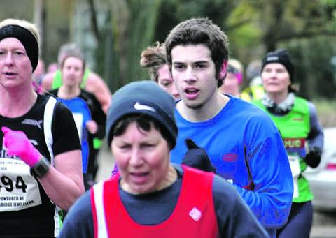 RUNNING MAN: Bourton Roadrunners' Alan Gibson in actin at this year's High Bridge Jeweller's Bourton-on-the-Water 10-kilometere run. Picture: JOHN GIBSON.