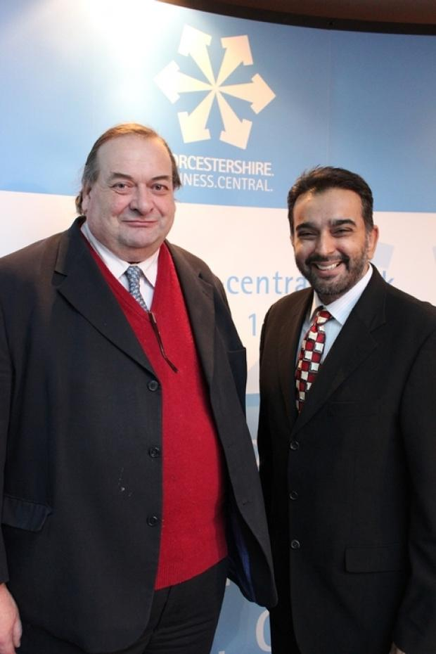 TOP DUO: Adrian Hardman, leader of Worcestershire County Council, with Ahmed Goga, right, the council's head of economic development and planning.
