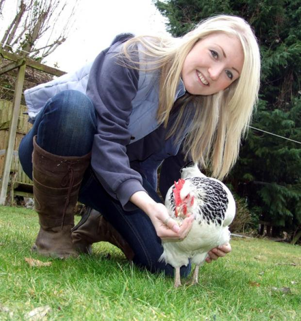 CHICKEN LOVER: Jenna Jack has forged a new career.