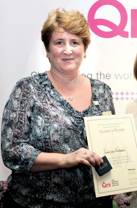 AWARD: Hospice team leader Vanessa Gibson has been awarded the Queen's Nurse title.