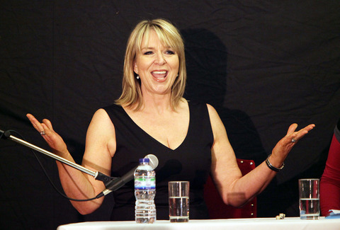 LITERARY POINT: Fern Britton speaks at the Crown and Cushion Hotel, Chipping Norton. Picture taken by Damian Halliwell