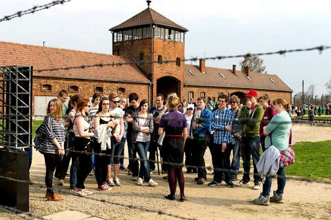 Evesham Journal: A TIME TO REMEMBER: Worcestershire students at Auschwitz.