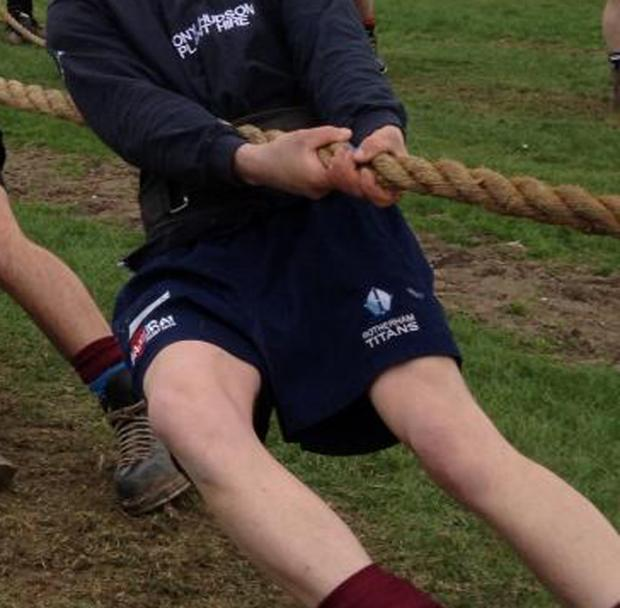 A tug of war competition was among the events