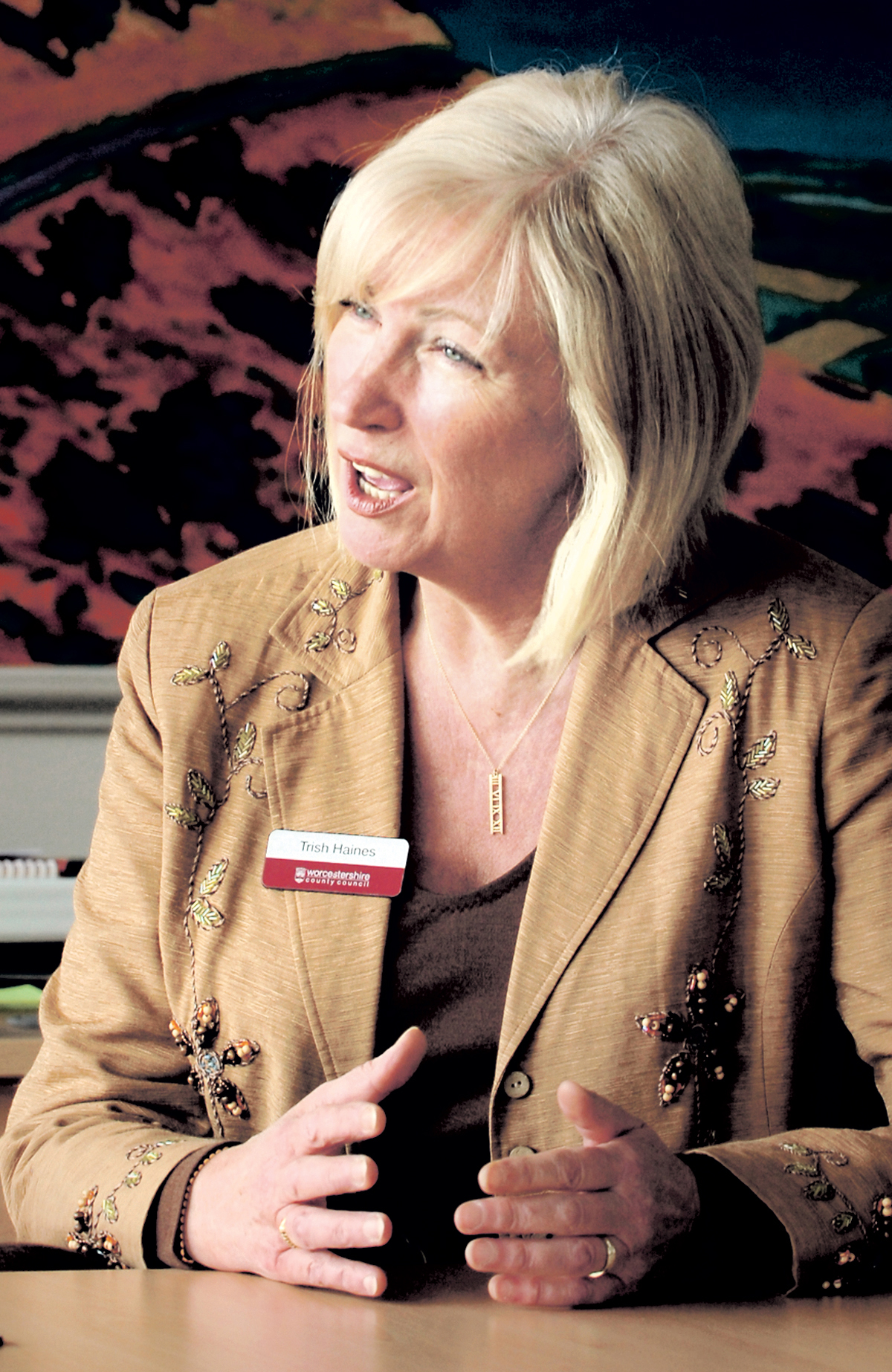 Trish Haines, the current county council chief executive