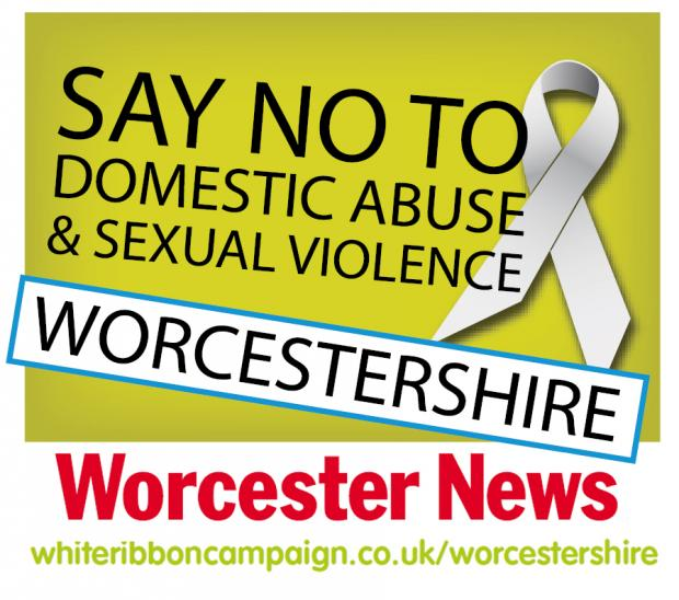 Evesham Journal: The campaign comes during the White Ribbon Campaign in Worcestershire