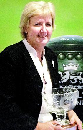 ACE: Broadway's Sue Davies was voted Bowls England ladies bowler of the year.