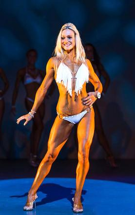 BIKINI DIVA: Melinda Cooksey has done well in contests.