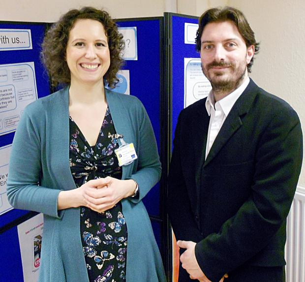 MISSED OPPORTUNITY: Tessa Slaughter and Gordon Hay, Worcester Deaf Direct.