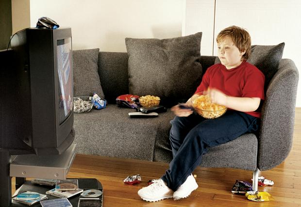 COUCH POTATO: One in three 10 and 11-year-olds are overweight.
