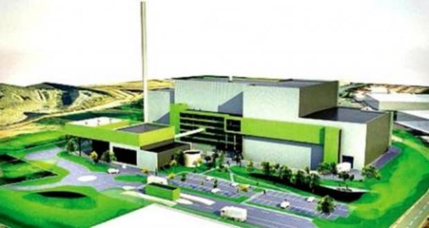An artists' impression of the Hartlebury incinerator