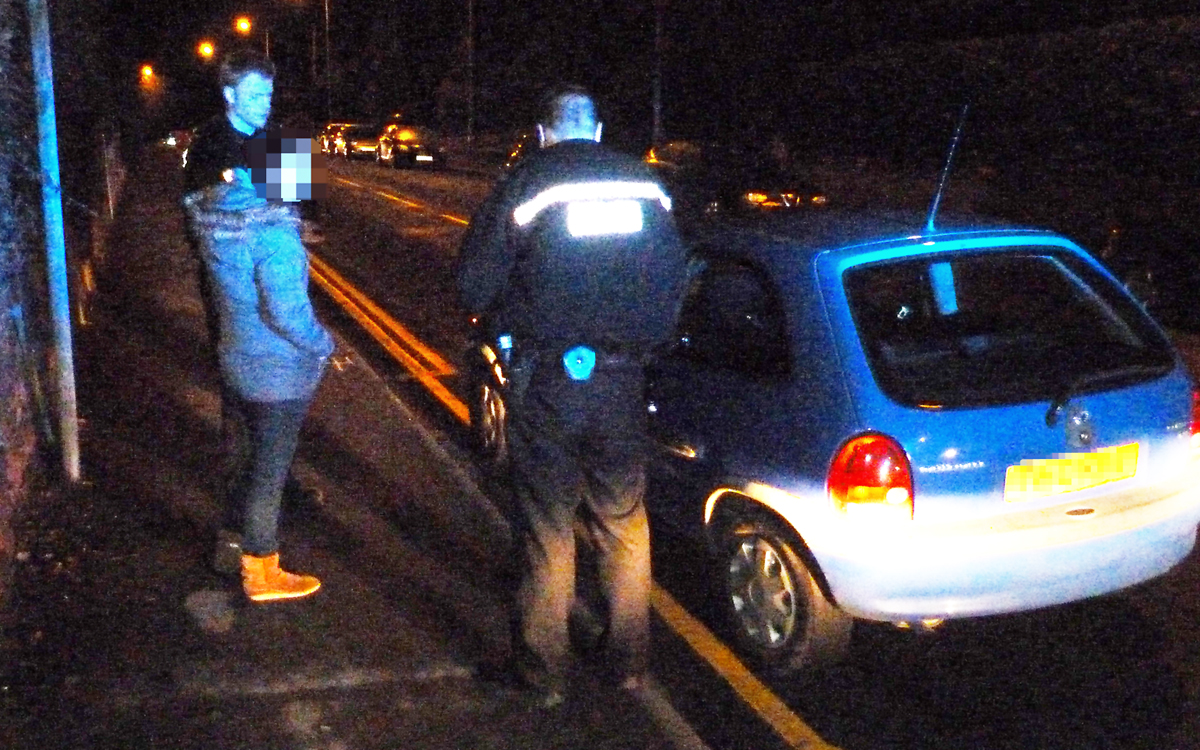 SUSPECT: Our patrol breathalyses a woman who was driving suspiciously but she was well under the limit.