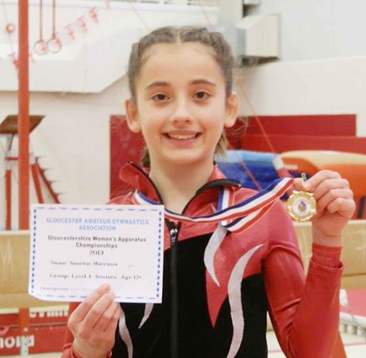 SISTER ACT: Laoishe MacCana, 16, is the new level three senior Gloucestershire champion, while Saoirse, 13, won the level four senior category at the event.