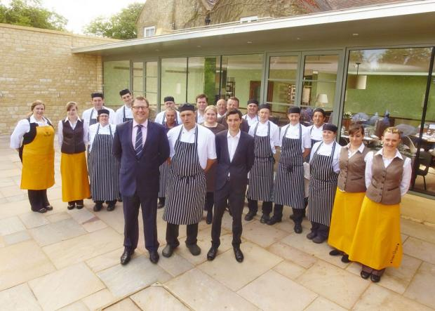 Staff at the Dormy House Hotel, Broadway