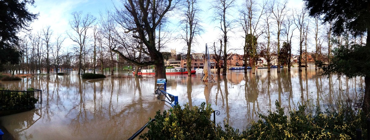 Festive misery caused by floods and high winds