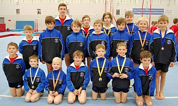 MEDAL WINNERS: The Stock Wood-based Worcester Gymnastics Club member