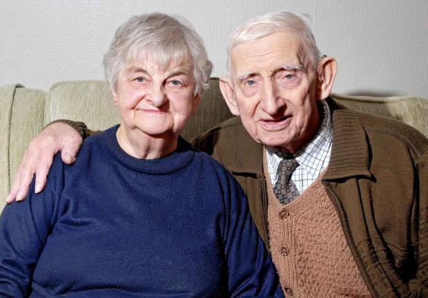 Evesham Journal: HAPPY: Doreen and Stan Cook are celebrating their diamond wedding anniversary