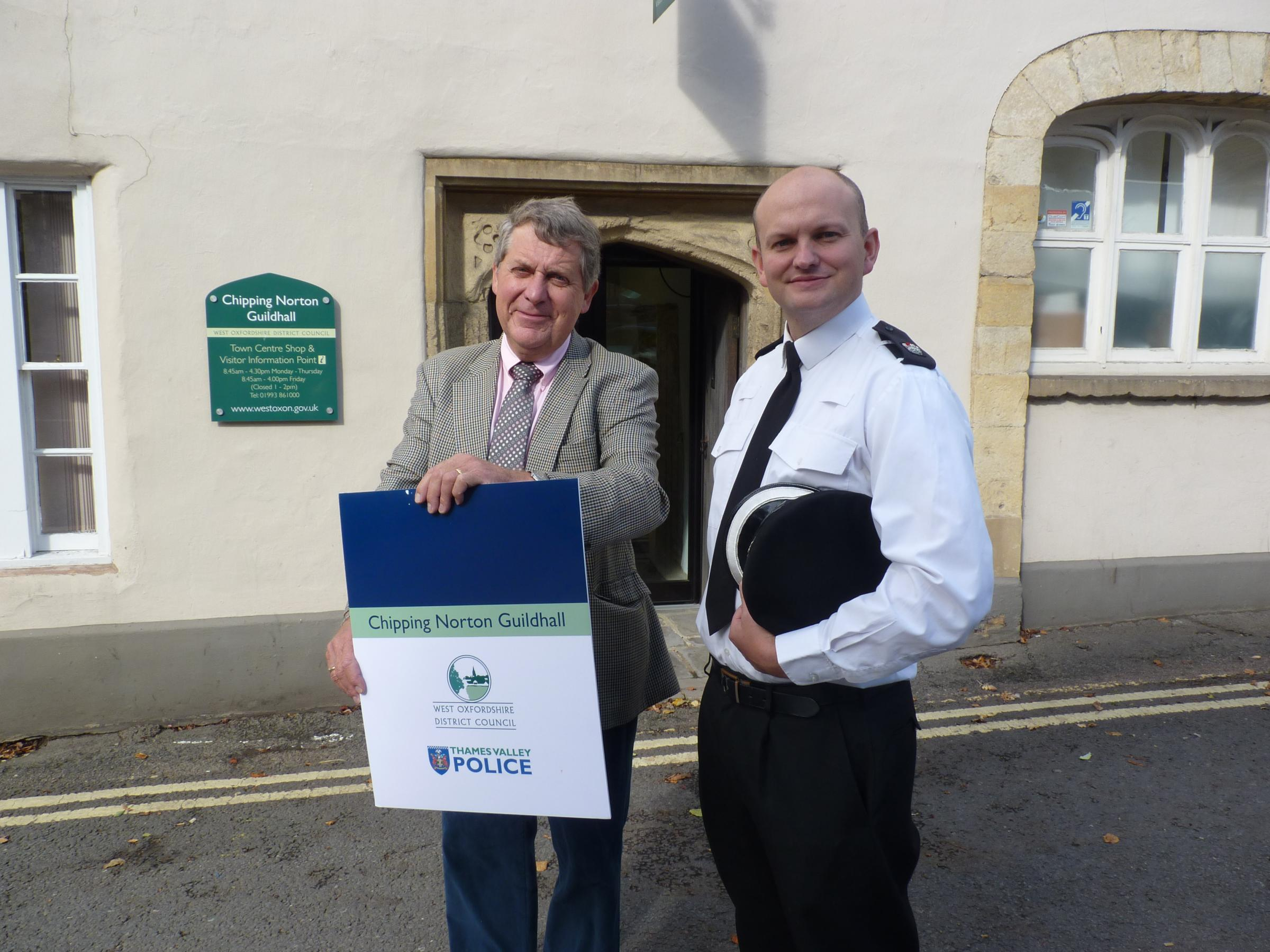 Councillor Mark Booty and Supt Colin Paine, of Thames Valley Police
