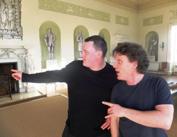 Evesham Journal: Richard Jefferies and Mark Robinson audtioning in the Long Gallery