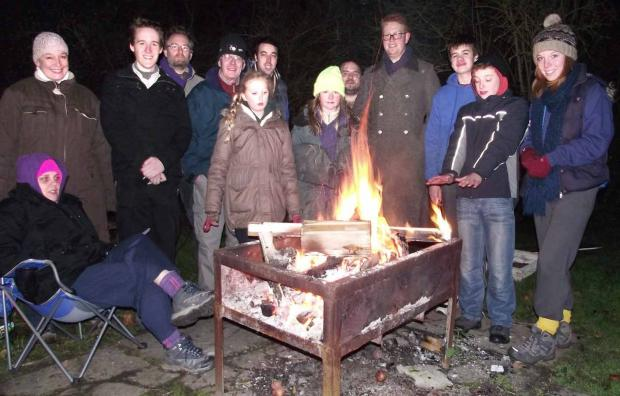 The last campfire at Selby Camp, which is no longer to be a campsite after 60 years in use.