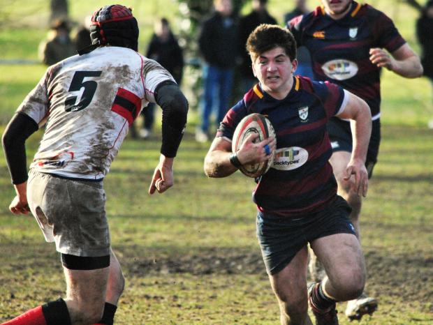 Evesham Journal: POWERING THROUGH: Ady Cook on the charge for Evesham. Picture: GINO DI FRANCO.