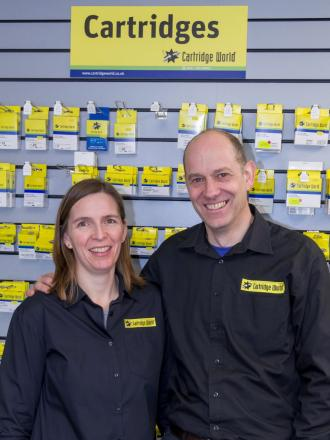 Richard and Penny Jones are delighted with new shop
