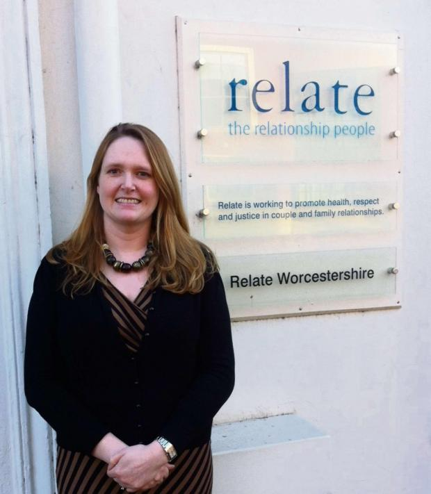 Evesham Journal: Sarah Moore, business development and training manager for Relate in Worcestershire, which works closely with Macmillan to support people suffering with cancer.