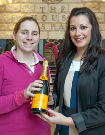 Suzanne Deacks, of Greet, was first through the door at 7.30am. She was welcomed by spa membership manager Tracy Whelan with a congratulatory bottle of Veuve Clicquot.