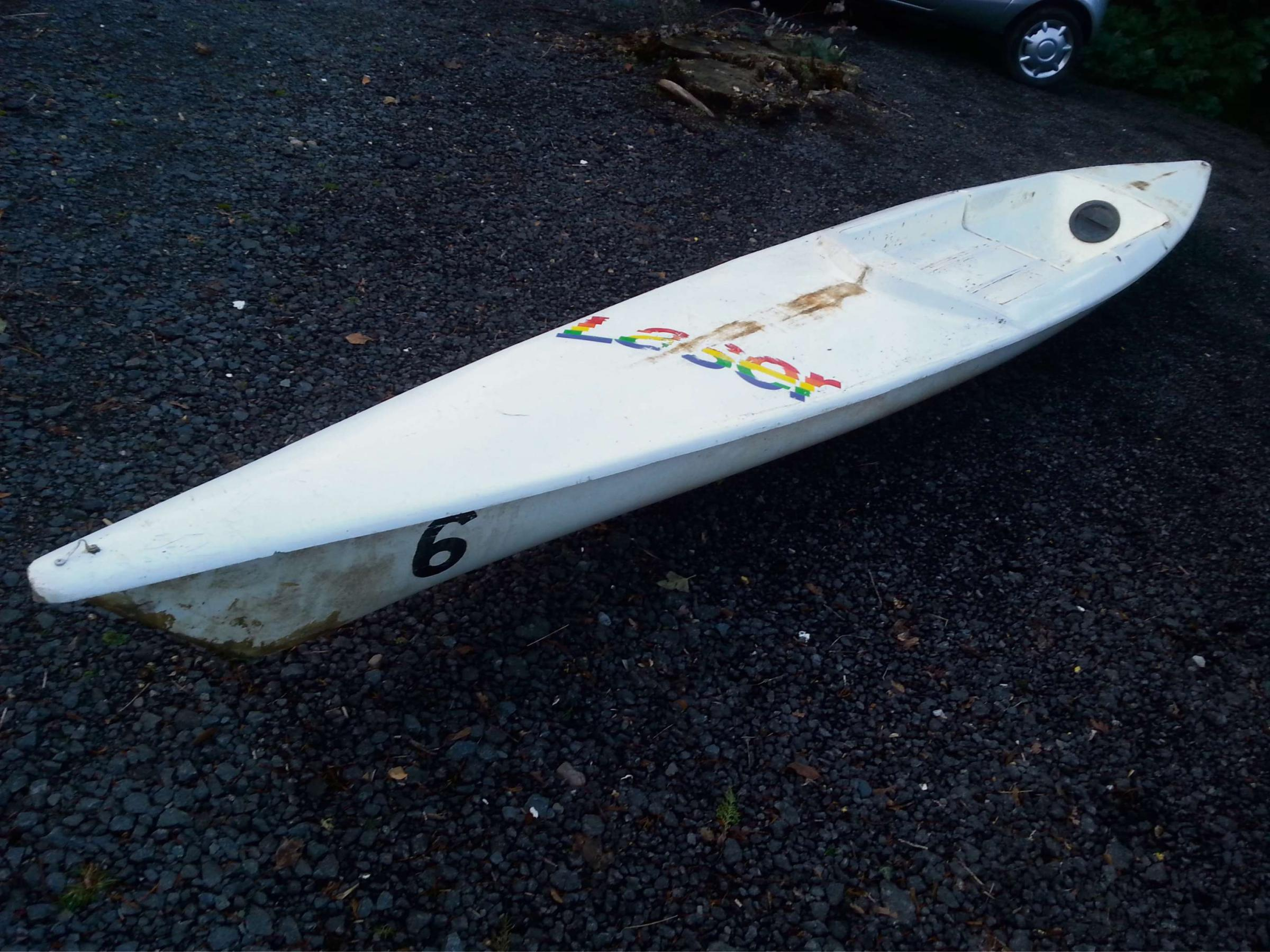 This canoe washed up near Sabrina Bridge, Worcester. (s)