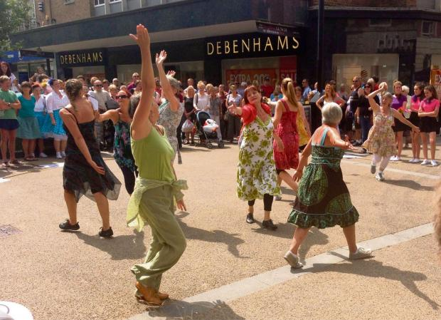 Evesham Journal: Dancefest Creatives performing in the summer. (s)