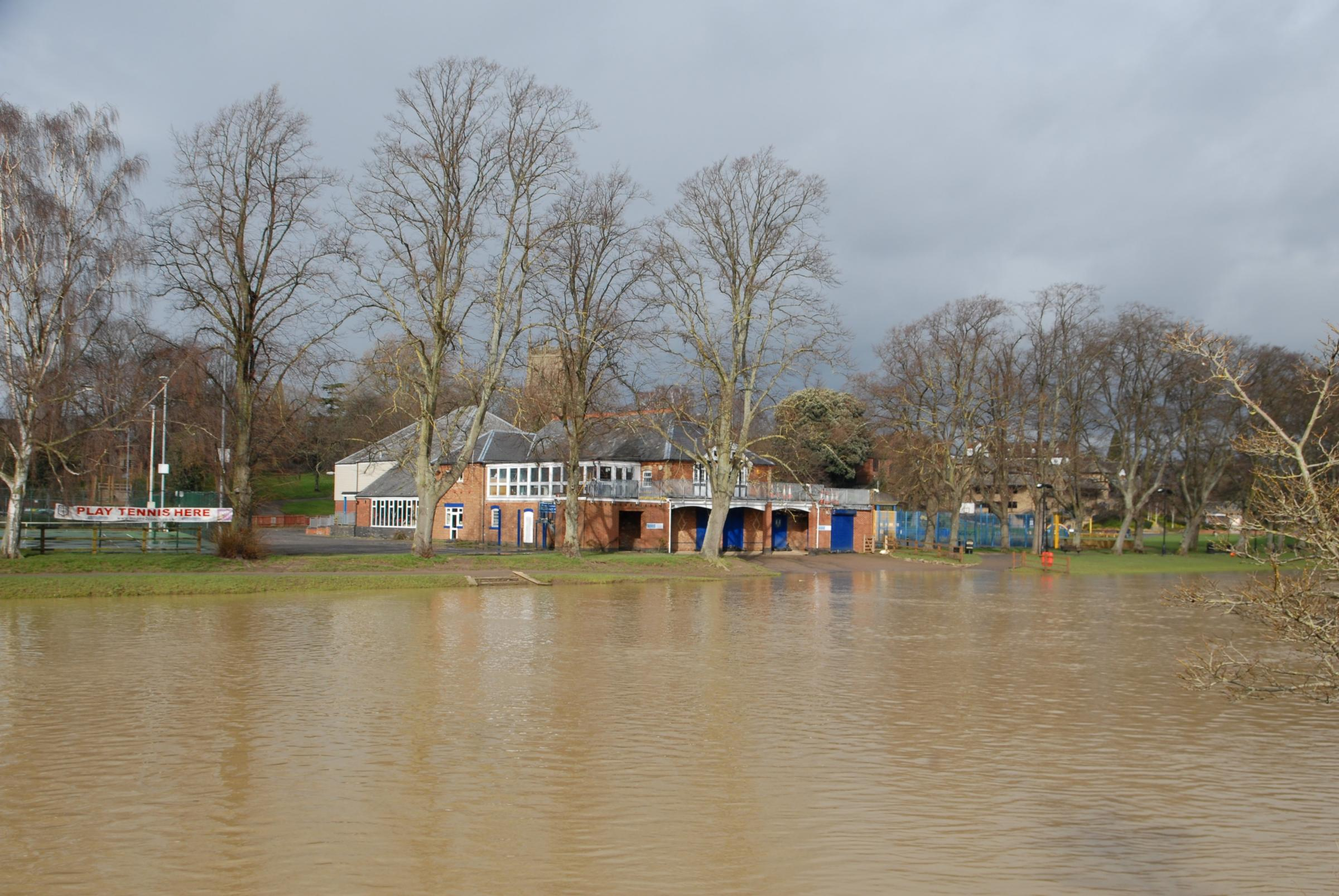 Worst flooding in over decade hits the county but Evesham is high and dry