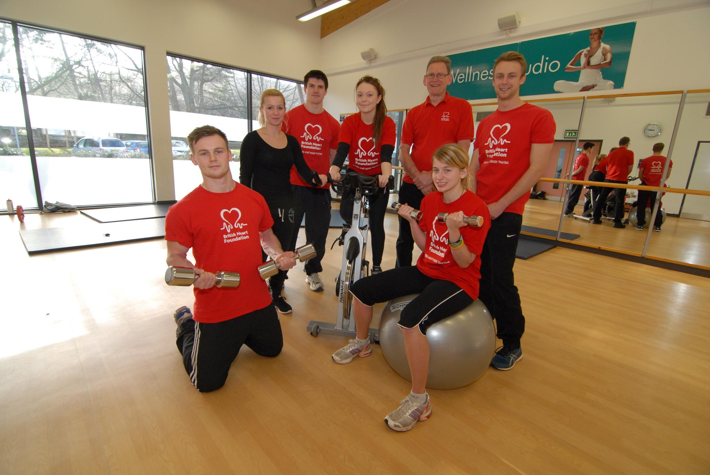 Fitness centre will be running in red for heart charity