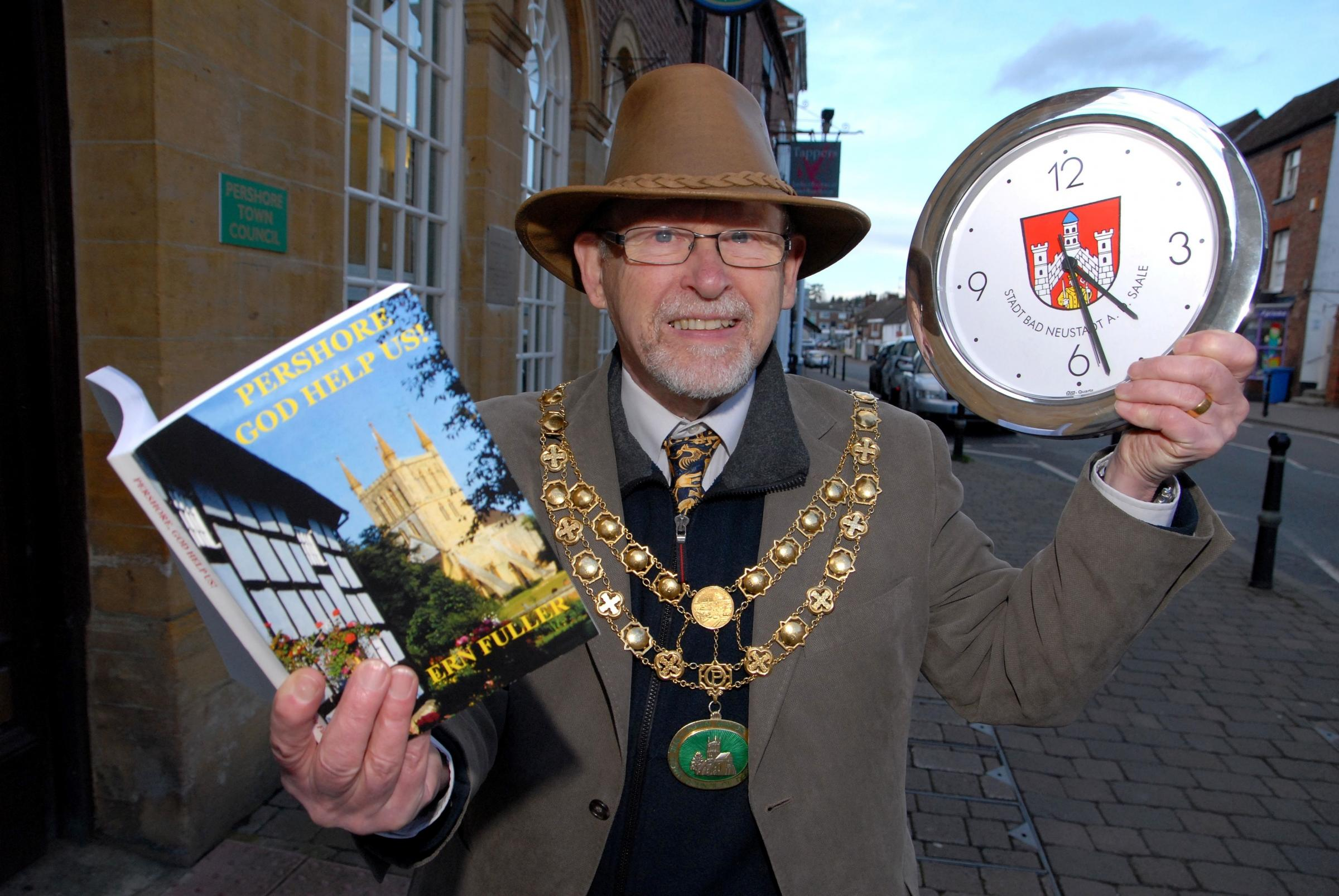 Pershore Mayor Charles Tucker is doing a readathon. Photo by Paul Jackson (0714519801)