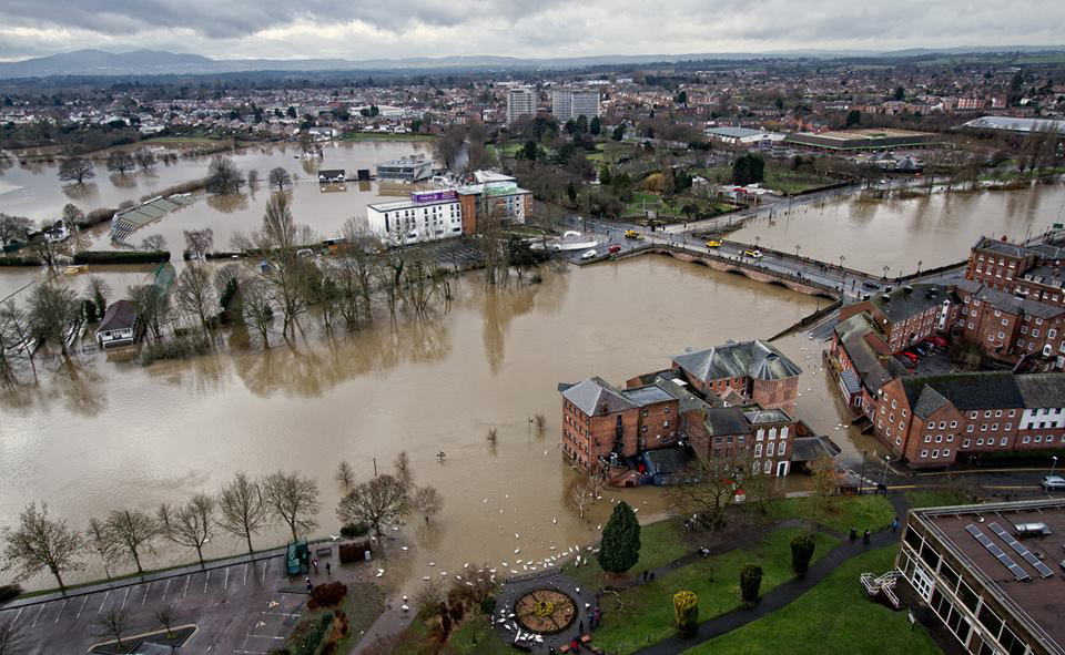 Worcestershire was hit by severe floods earlier this year