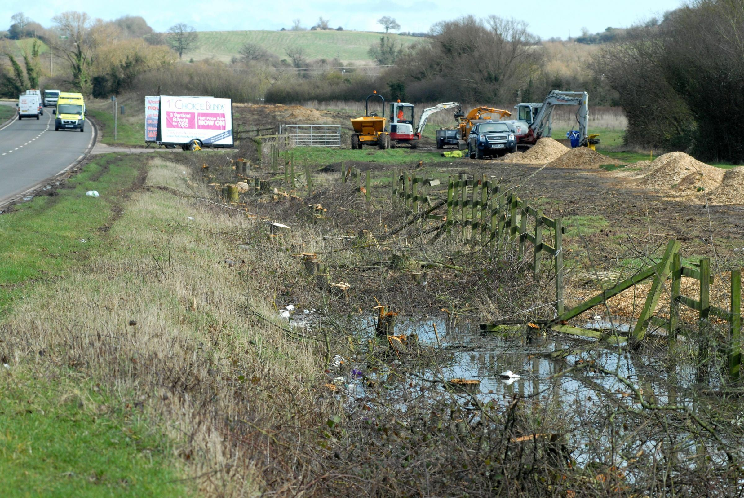Trees cut down ready for notorious Southern Link Road works