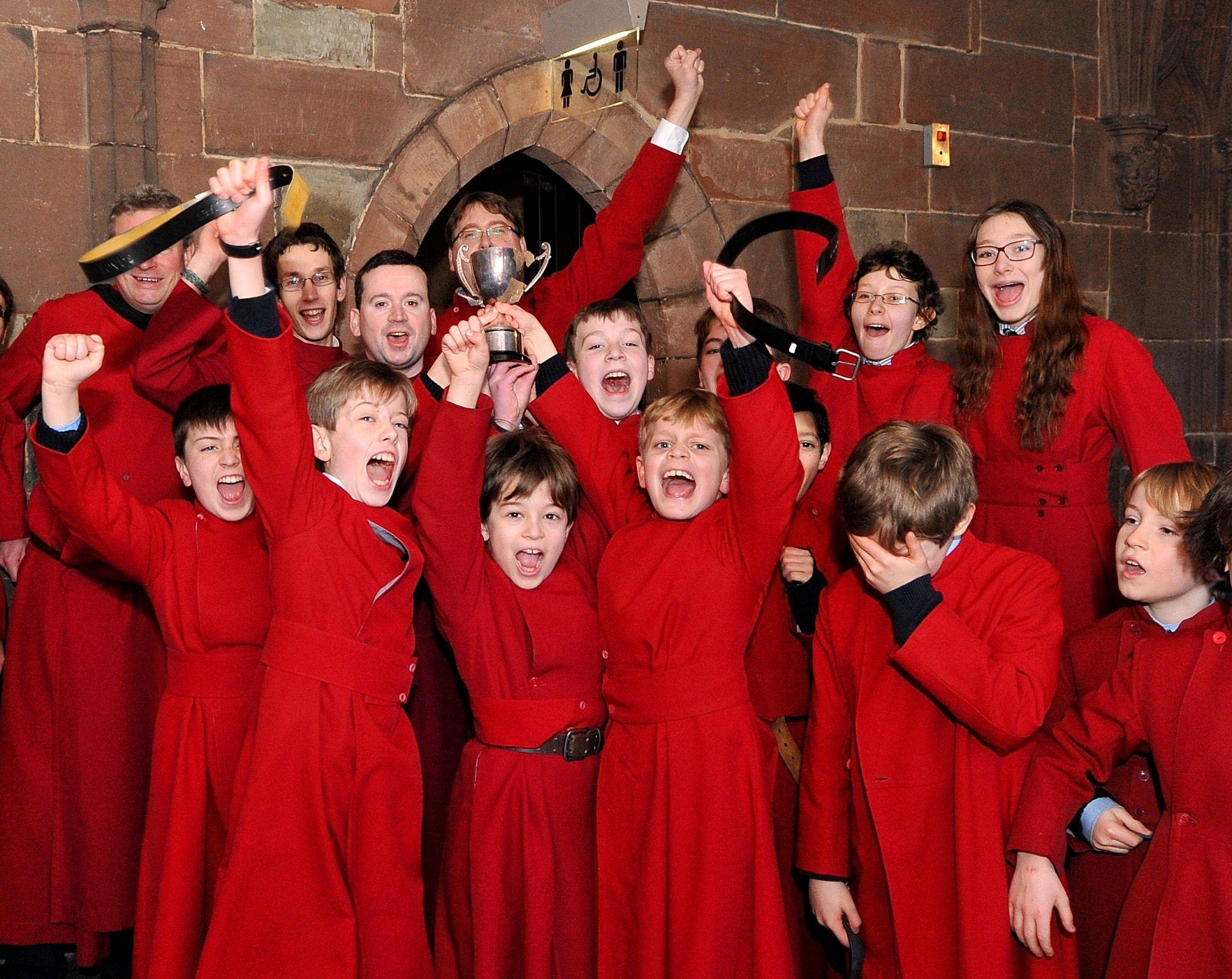 Choristers flip pancakes to celebrate Shrove Tuesday