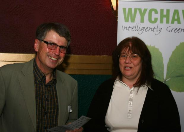 Robin Walker, from Transition Evesham Vale, with Wychavon District Councillor Emma Stokes.