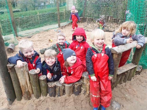 Evesham Journal: Youngsters enjoying their time at Evesham Nursery School.